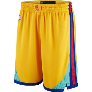 2018-19 Golden State Warriors Gold City Edition Shorts