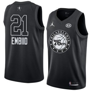 2018 All-Star 76ers Joel Embiid #21 Black Swingman Jersey