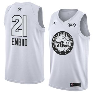 2018 All-Star 76ers Joel Embiid #21 White Swingman Jersey
