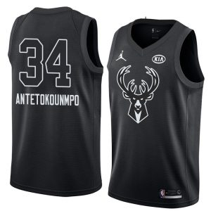 2018 All-Star Bucks Giannis Antetokounmpo #34 Black Swingman Jersey