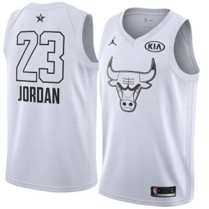 2018 All-Star Bulls Michael Jordan #23 White Swingman Jersey