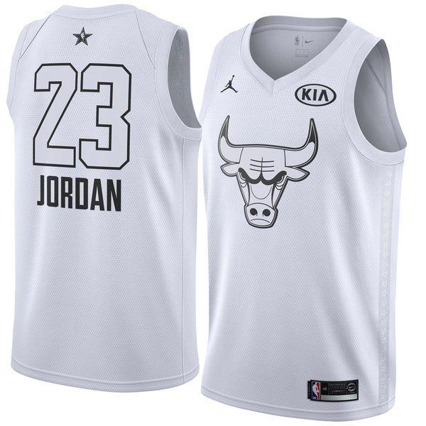 2018 All-Star Bulls Michael Jordan #23 White Swingman Jersey