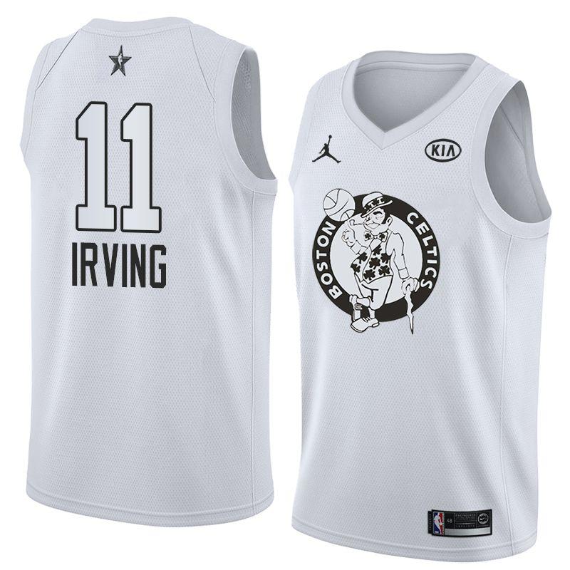 2018 All-Star Celtics Kyrie Irving #11 White Swingman Jersey