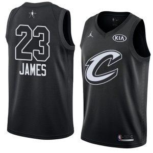 2018 All-Star Cleveland Cavaliers LeBron James #23 Black Swingman Jersey