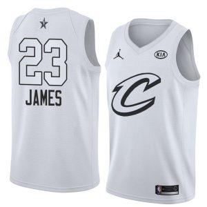 2018 All-Star Cleveland Cavaliers LeBron James #23 White Swingman Jersey