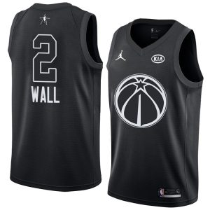 2018 All-Star Wizards John Wall #2 Black Swingman Jersey