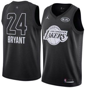 2018 All-Star Lakers Kobe Bryant #24 Black Swingman Jersey