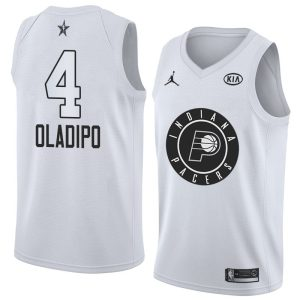 2018 All-Star Pacers Victor Oladipo #4 White Swingman Jersey