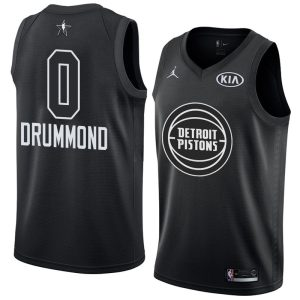 2018 All-Star Pistons Andre Drummond #0 Black Swingman Jersey
