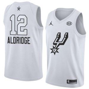 2018 All-Star Spurs LaMarcus Aldridge #12 White Swingman Jersey