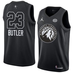 2018 All-Star Timberwolves Jimmy Butler #23 Black Swingman Jersey