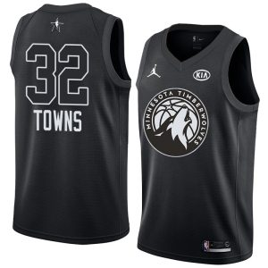 2018 All-Star Timberwolves Karl-Anthony Towns #32 Black Swingman Jersey