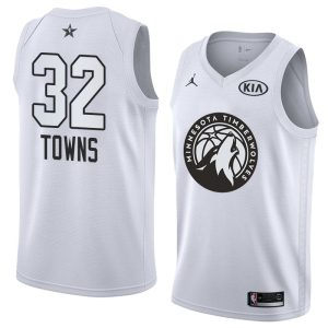 2018 All-Star Timberwolves Karl-Anthony Towns #32 White Swingman Jersey