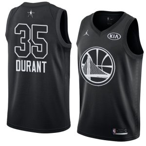 2018 All-Star Warriors Kevin Durant #35 Black Swingman Jersey