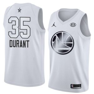 2018 All-Star Warriors Kevin Durant #35 White Swingman Jersey