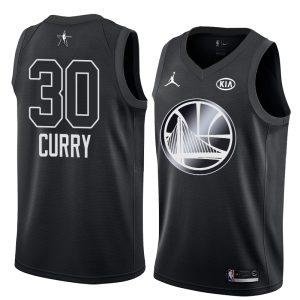 2018 All-Star Warriors Stephen Curry #30 Black Swingman Jersey
