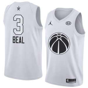 2018 All-Star Wizards Bradley Beal #3 White Swingman Jersey
