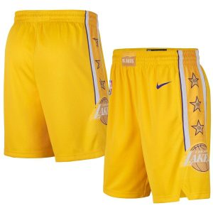 2019-20 NBA LA Lakers Gold City Swingman Shorts