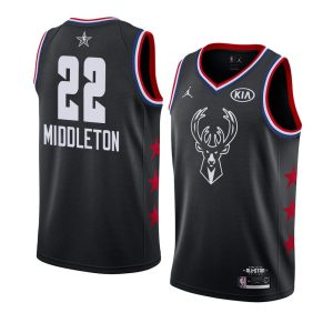 2019 NBA All-Star Bucks Khris Middleton #22 Black Swingman Jersey