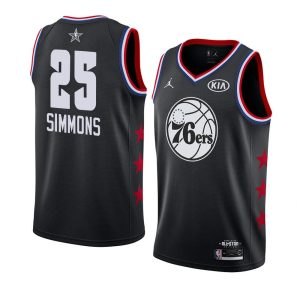 2019 NBA All-Star Philadelphia 76ers Ben Simmons #25 Black Swingman Jersey