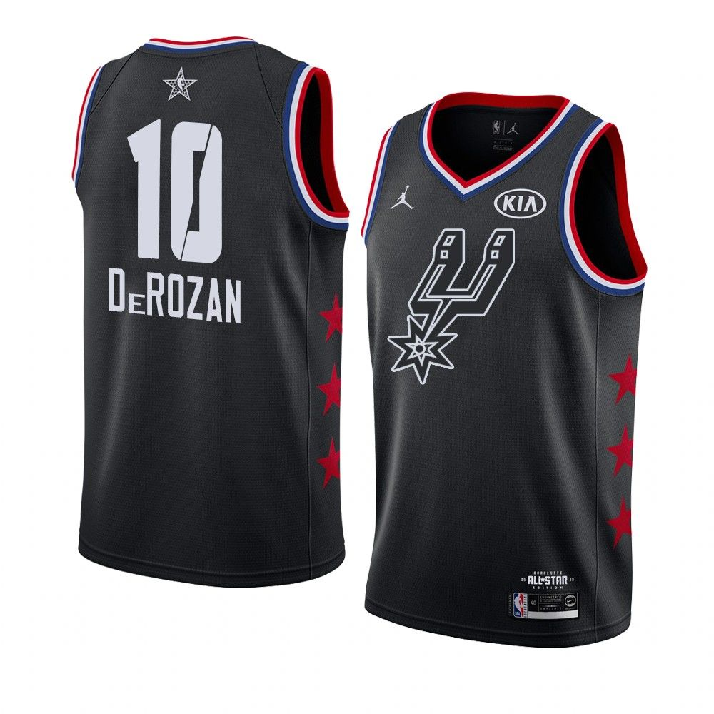 2019 NBA All-Star Spurs DeMar DeRozan #10 Black Swingman Jersey