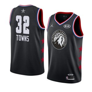 2019 NBA All-Star Timberwolves Karl-Anthony Towns #32 Black Swingman Jersey
