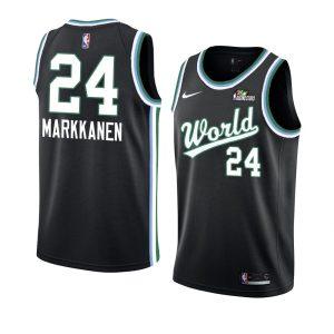 2019 Team USA Lauri Markkanen #24 NBA Rising Star Black Swingman
