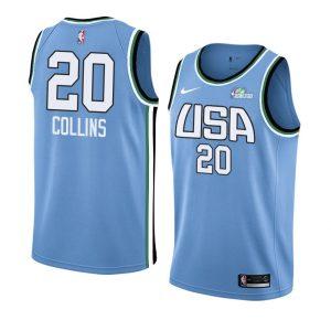 2019 Team World John Collins #20 NBA Rising Star Blue Swingman