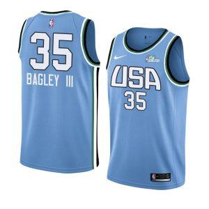 2019 Team World Marvin Bagley III #35 NBA Rising Star Blue Swingman