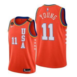 Заказать поиск джерси 2020 Atlanta Hawks Trae Young #11 NBA Rising Star USA Team Orange с бесплатной доставкой. Оранжевая расцветка джерси баскетбольного игрока Трея Янга из команды Майами Хит. На груди номер 11 и надпись World. Издание NBA Rising Star2020 года.