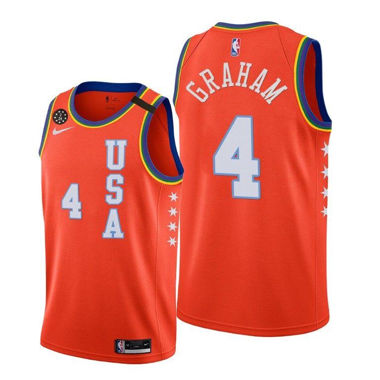 2020 Hornets Devonte' Graham #4 NBA Rising Star USA Team Orange