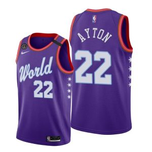 2020 Phoenix Suns Deandre Ayton #22 NBA Rising Star World Team Purple Jersey