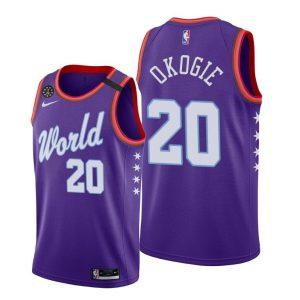 2020 Timberwolves Josh Okogie #20 NBA Rising Star World Team Purple