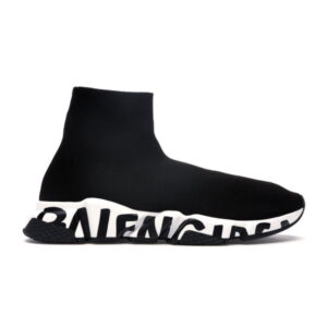 Balenciaga Speed Trainer Graffiti - Black White