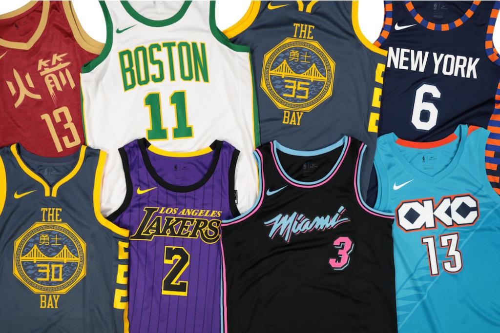 Виды маек команд NBA