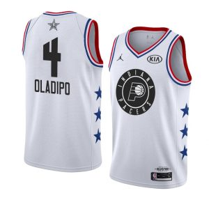2019 All-Star Pacers Victor Oladipo #4 White Swingman Jersey
