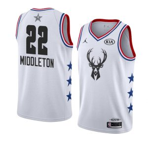 2019 NBA All-Star Bucks Khris Middleton #22 White Swingman Jersey