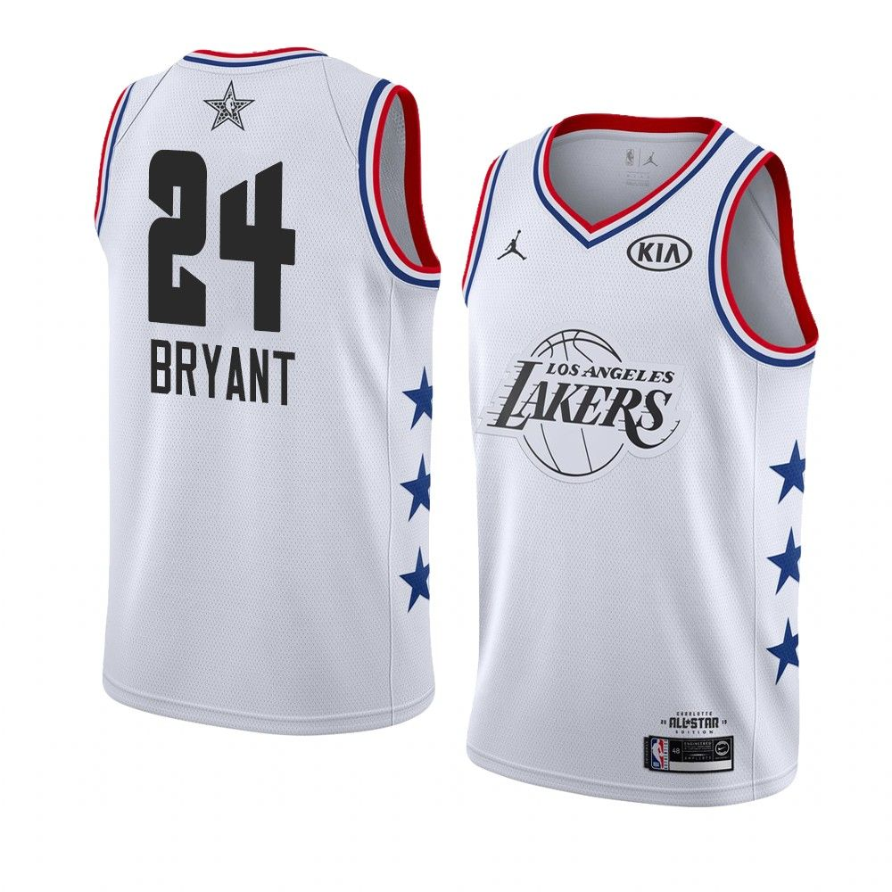 2019 NBA All-Star LA Lakers Kobe Bryant #24 White Swingman Jersey