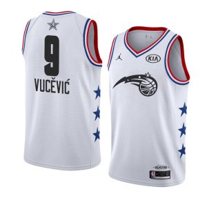 2019 NBA All-Star Orlando Magic Nikola Vucevic #9 White Swingman Jersey