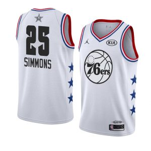 2019 NBA All-Star Philadelphia 76ers Ben Simmons #25 White Swingman Jersey