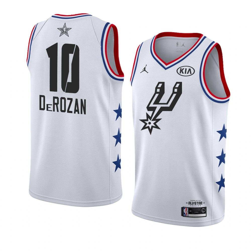 2019 NBA All-Star Spurs DeMar DeRozan #10 White Swingman Jersey