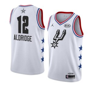 2019 NBA All-Star Spurs LaMarcus Aldridge #12 White Swingman Jersey