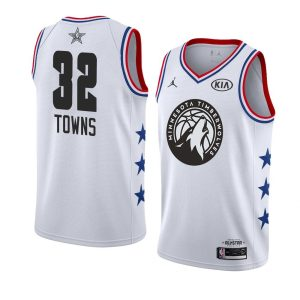 2019 NBA All-Star Timberwolves Karl-Anthony Towns #32 White Swingman Jersey