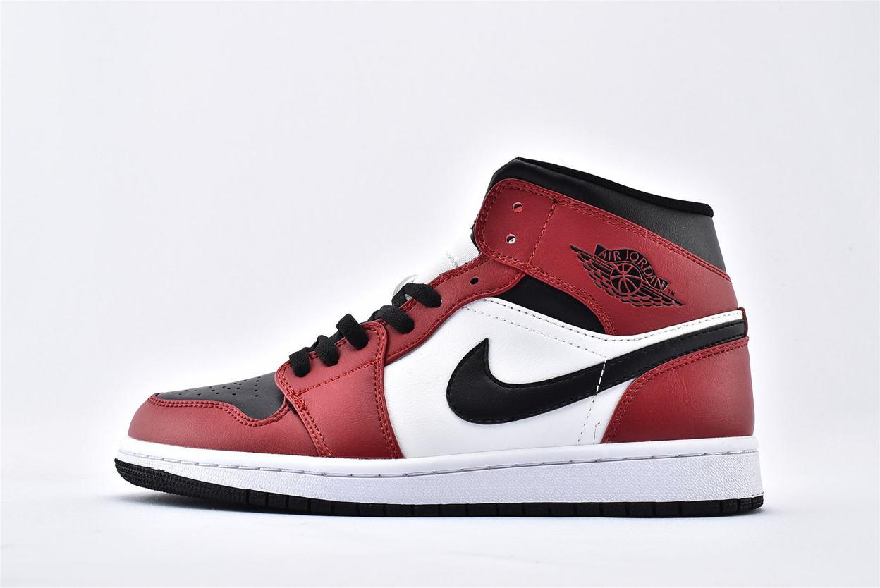 Air Jordan 1 Mid Chicago Black Toe 1