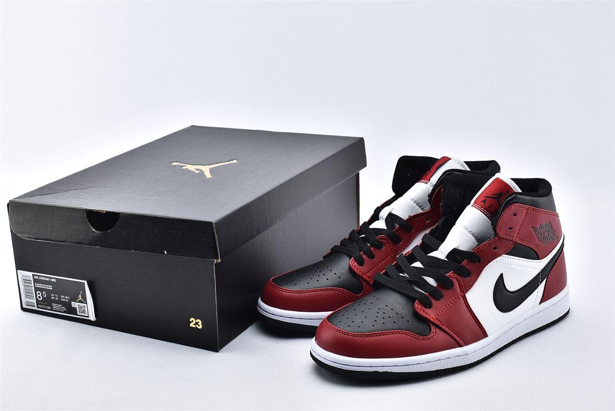 Air Jordan 1 Mid Chicago Black Toe 10