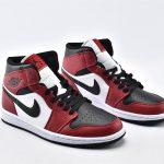Air Jordan 1 Mid Chicago Black Toe 2