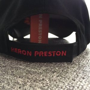 Heron Preston Black And Red Embroidered Logo Cap