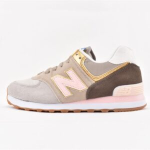 New Balance 574 Metallic Patch Khaki W 1