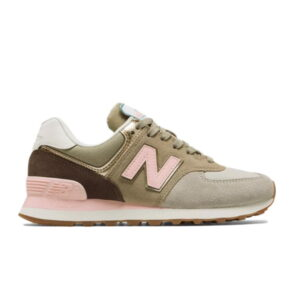 New Balance 574 Metallic Patch Khaki W