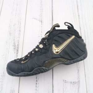 Nike Air Foamposite Pro Black Metallic Gold 1